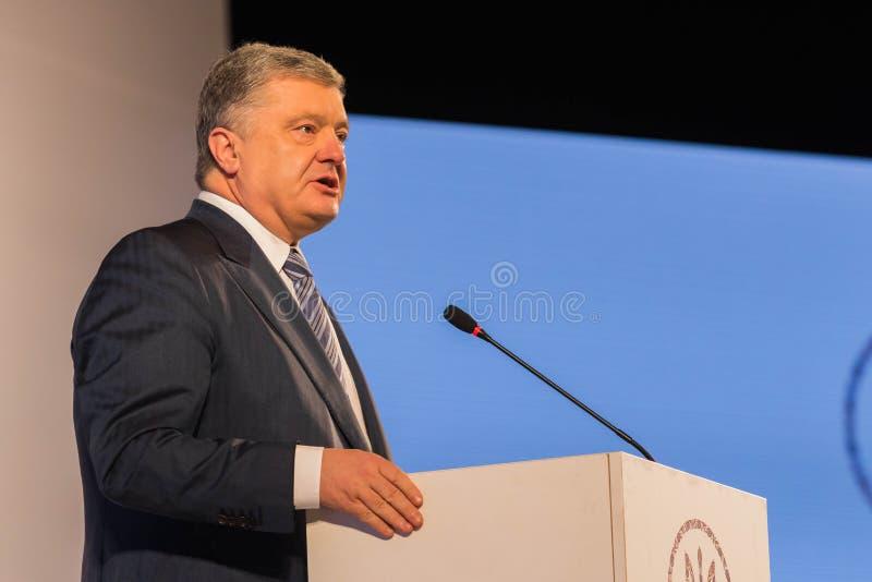 Президент Украины Petro Poroshenko стоковые фото