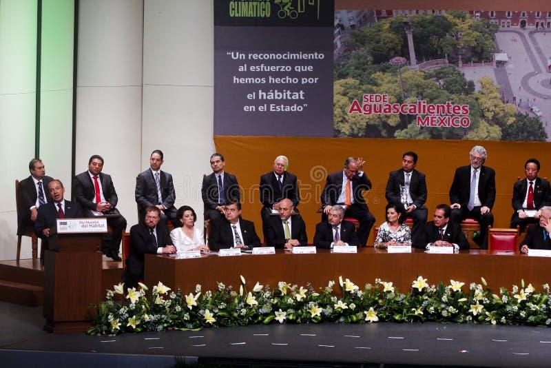 президент felipe Мексики calderon стоковое изображение