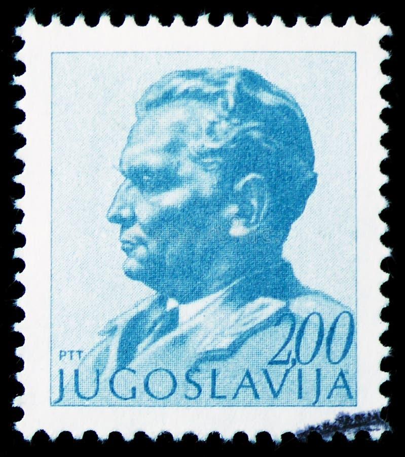 Президент 1892-1980, serie Josip Broz Tito, около 1974 стоковая фотография rf