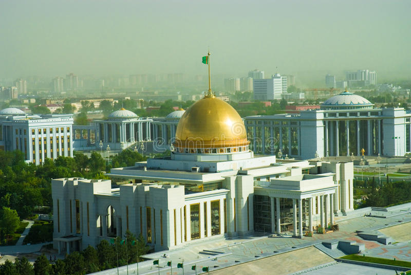 президент turkmenistan дворца ashgabat стоковое фото