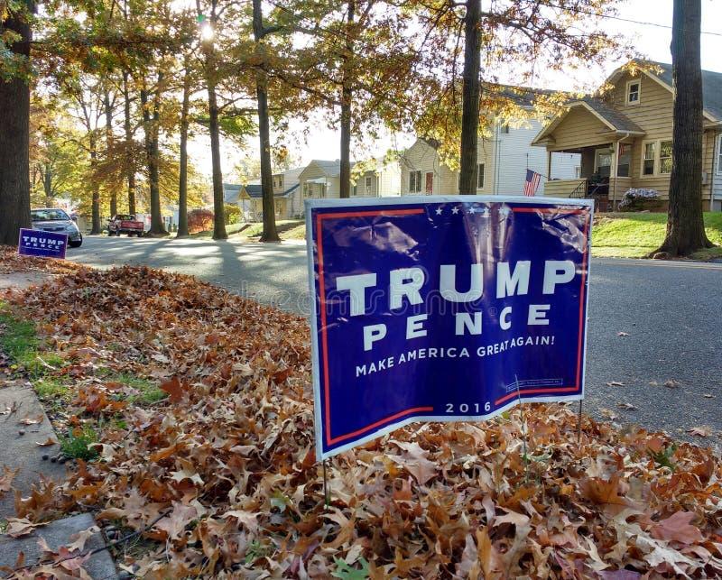 Президентские выборы 2016 США, козырь, пенни, делают Америку большой снова стоковое фото