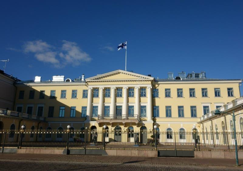 Президентский дворец и свои предохранители в Хельсинки, Финляндии стоковая фотография rf