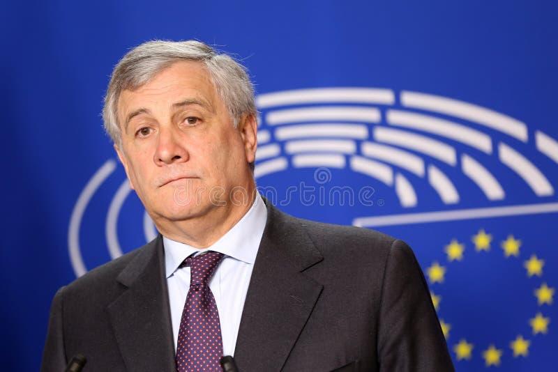 Президент Европейского парламента Антонио Tajani стоковая фотография