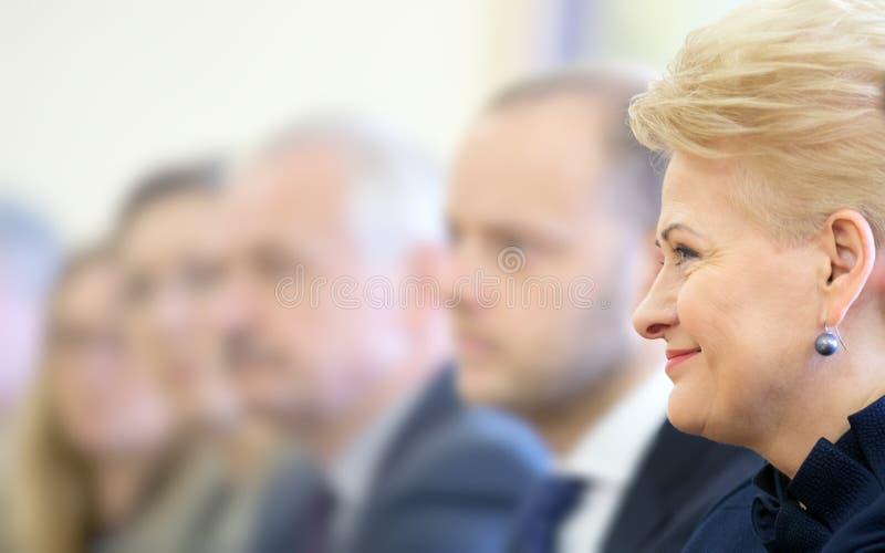президент Литвы grybauskaite dalia стоковое изображение