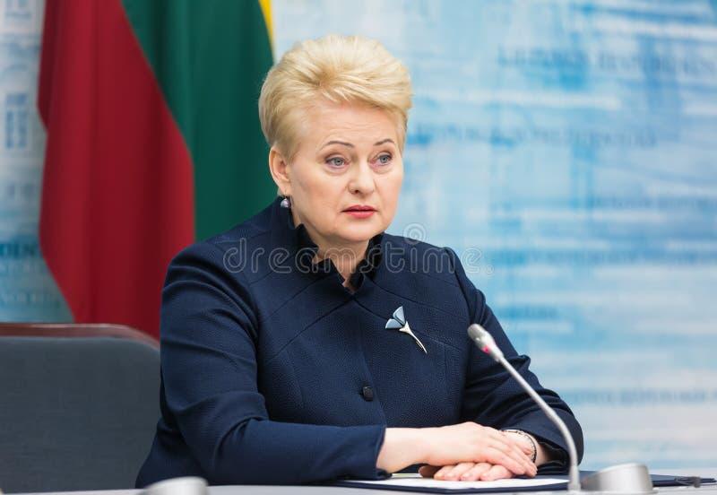 президент Литвы grybauskaite dalia стоковые изображения