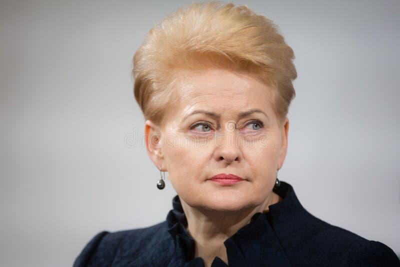 президент Литвы grybauskaite dalia стоковое фото