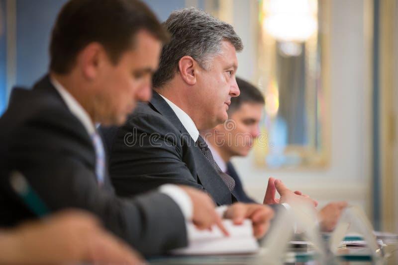 Президент Украины Petro Poroshenko стоковые изображения