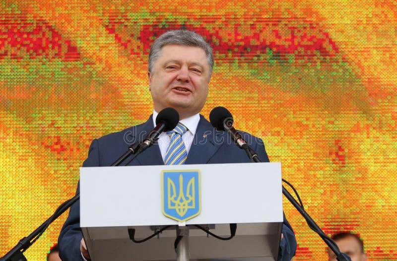 Президент Украины Petro Poroshenko стоковое фото