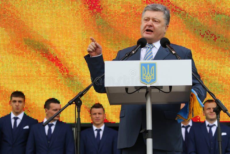 Президент Украины Petro Poroshenko стоковое изображение