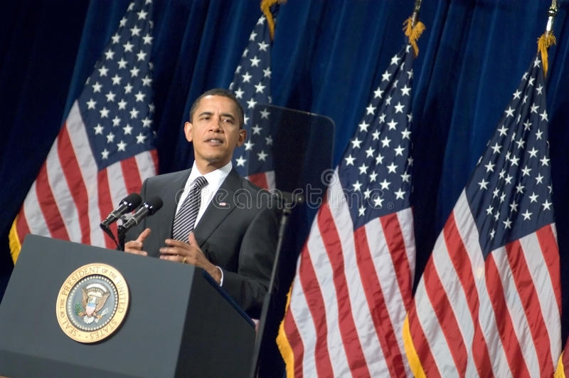 Президент Barack Obama в Аризоне стоковая фотография