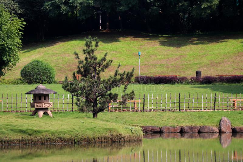 Прекрасный парк в индийском городе стоковое изображение rf