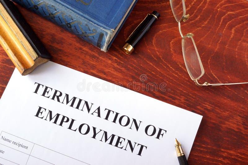 Прекращение формы занятости стоковая фотография