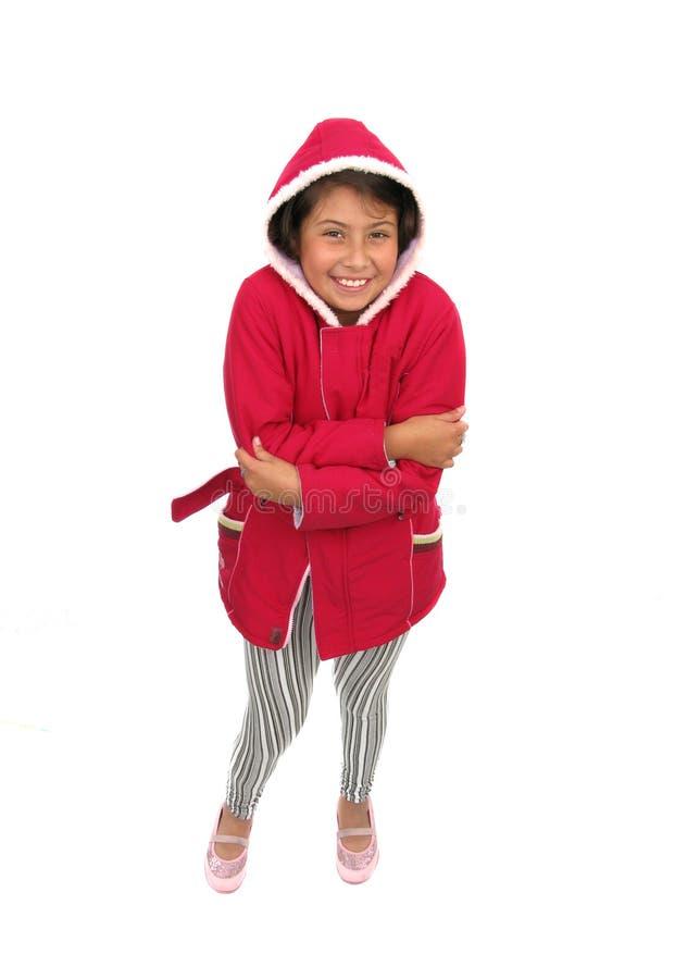 прелестная зима девушки одежд стоковые фотографии rf