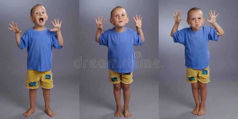 прелестная студия малыша коллажа стоковые изображения