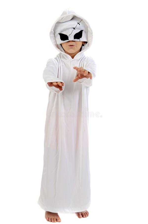 прелестное привидение disguise мальчика стоковые фото