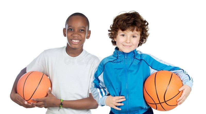 прелестные дети 2 шариков стоковые изображения