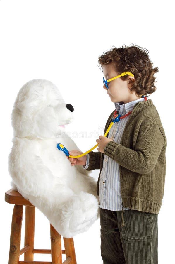 прелестный доктор ребенка стоковое изображение rf