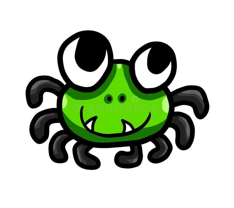 Прелестный зеленый паук иллюстрация штока