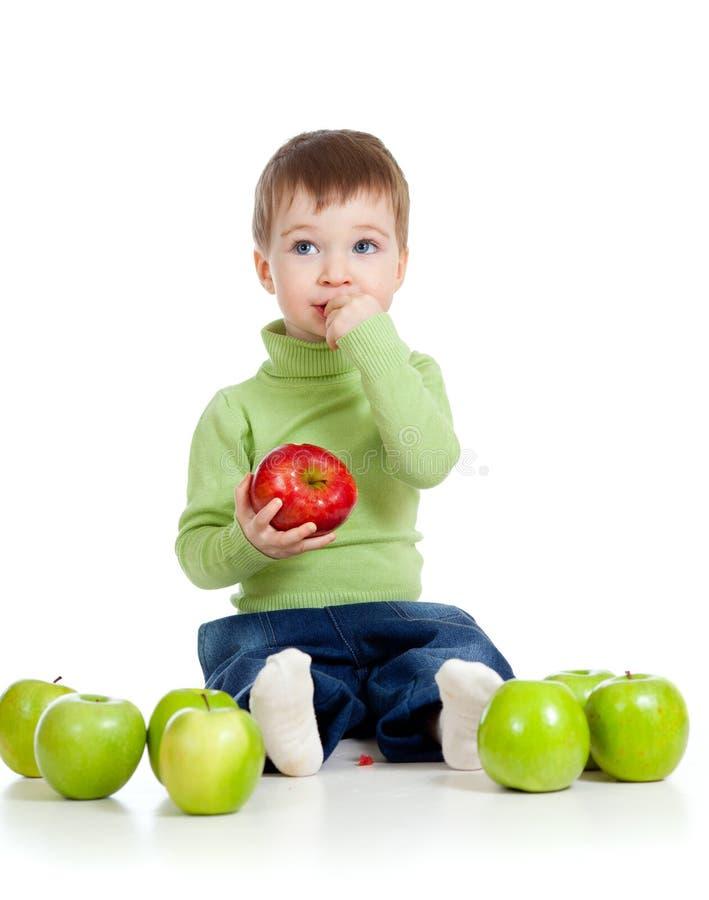 прелестный зеленый цвет ребенка яблок стоковая фотография