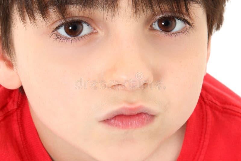 прелестный конец мальчика вверх стоковые фото