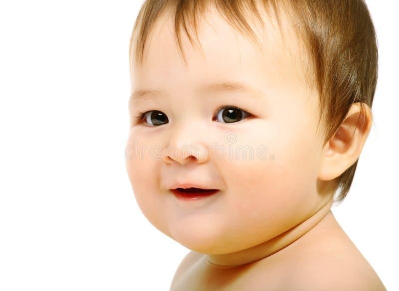 прелестный младенец счастливый стоковое фото rf