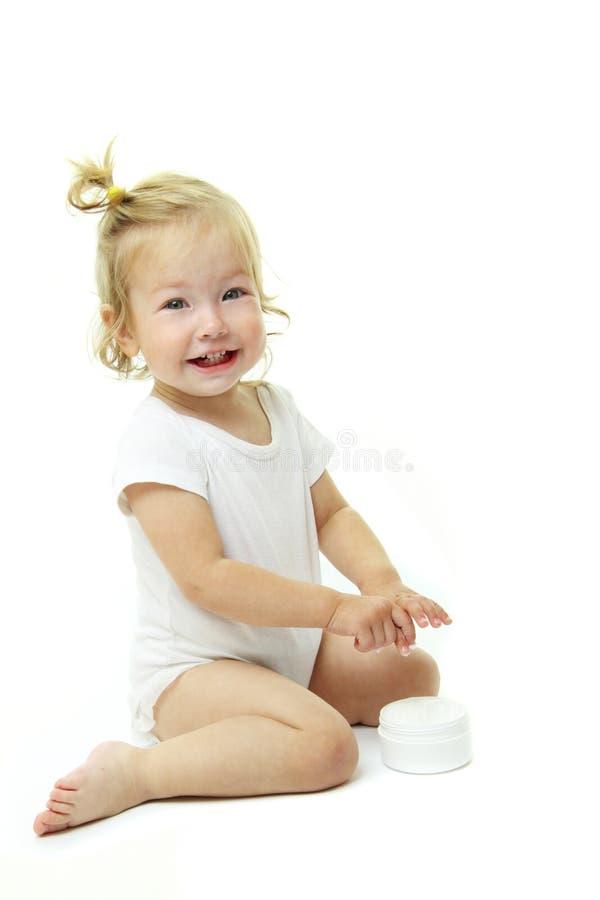 прелестный портрет младенца стоковое фото