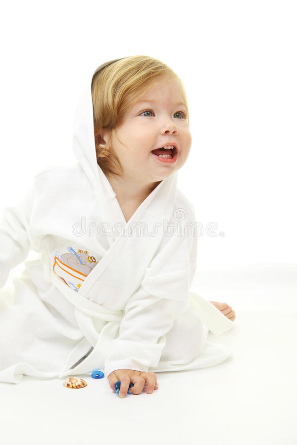 прелестный портрет младенца стоковые фото