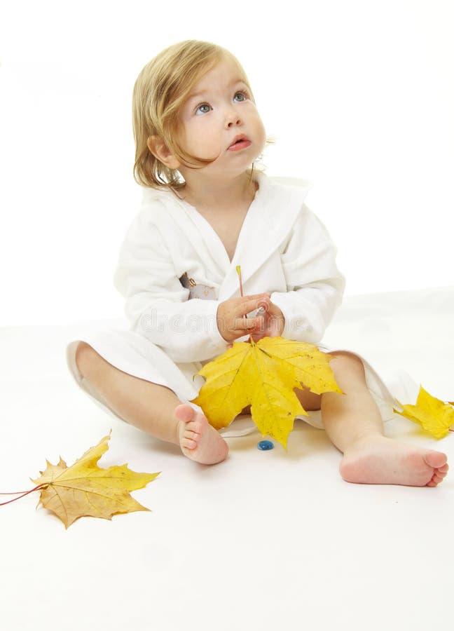 прелестный портрет младенца стоковые изображения rf