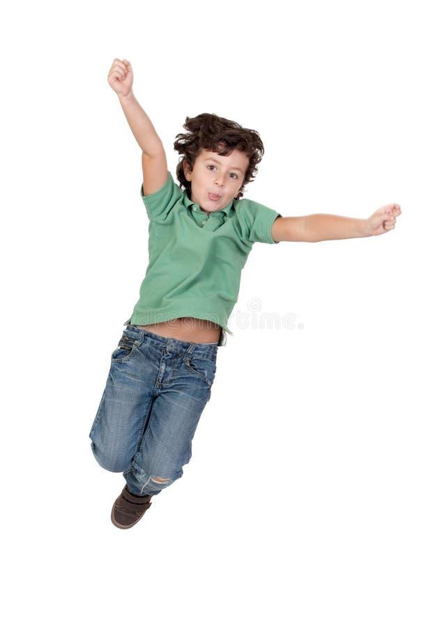 прелестный скакать ребенка стоковые фото