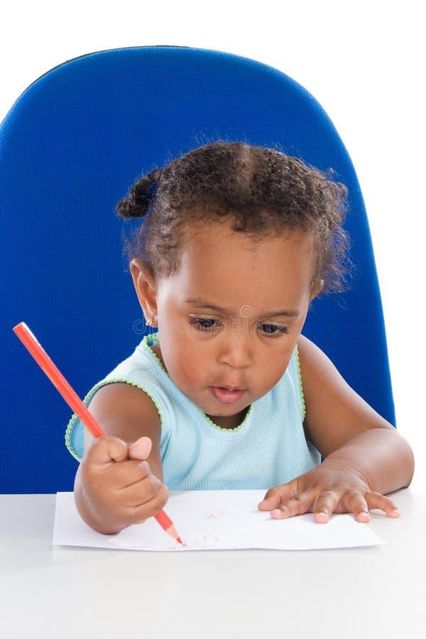 прелестный студент младенца стоковая фотография rf