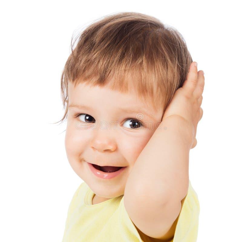 Прелестный счастливый годовалый мальчик стоковые изображения