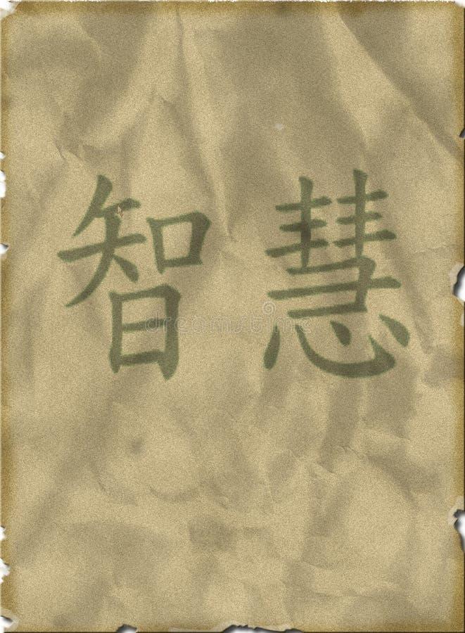 премудрость символа страницы chinse предпосылки старая стоковое фото