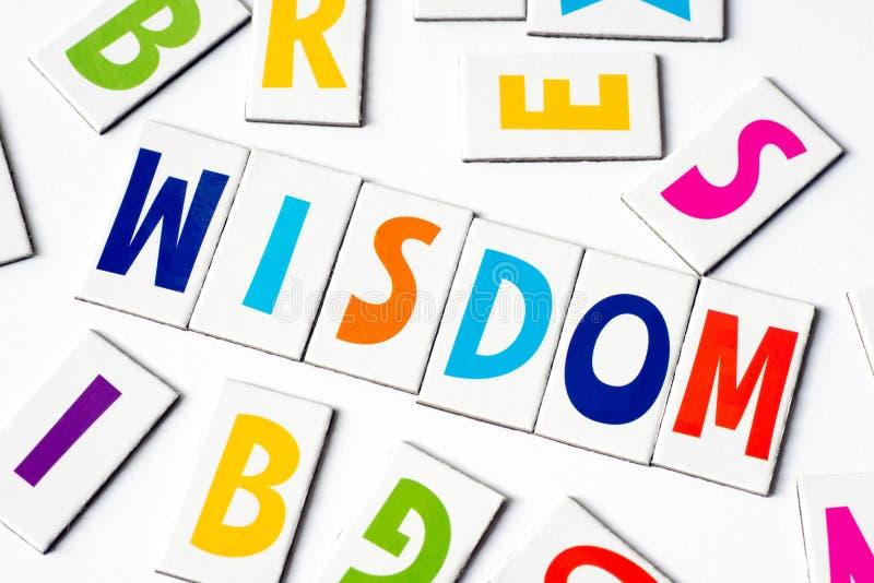 Премудрость слова сделанная красочных писем стоковое изображение rf
