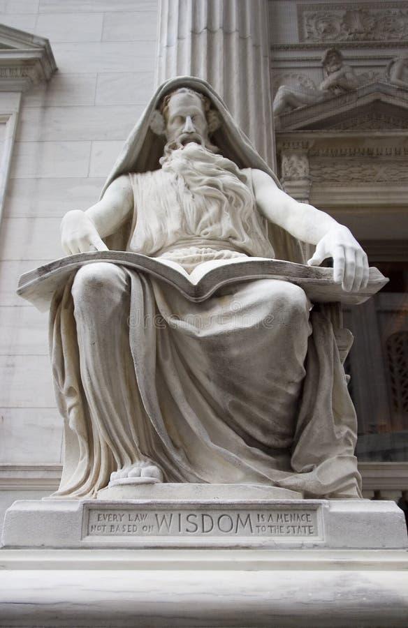 премудрость статуи стоковая фотография rf