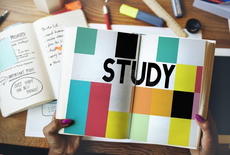 Премудрость знания образования исследования изучая концепцию стоковое фото rf