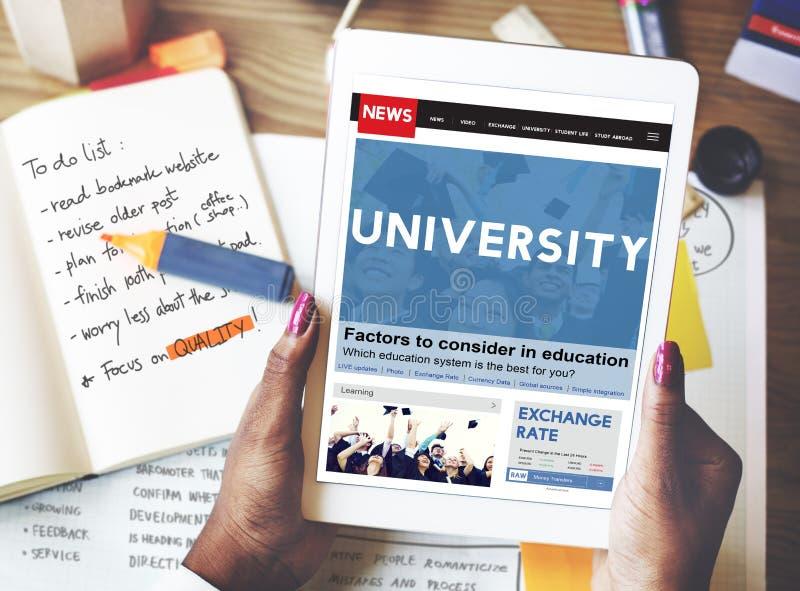 Премудрость знания образования университета изучая концепцию стоковые изображения rf