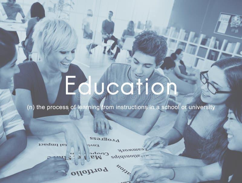 Премудрость знания образования уча изучающ концепцию стоковое фото rf