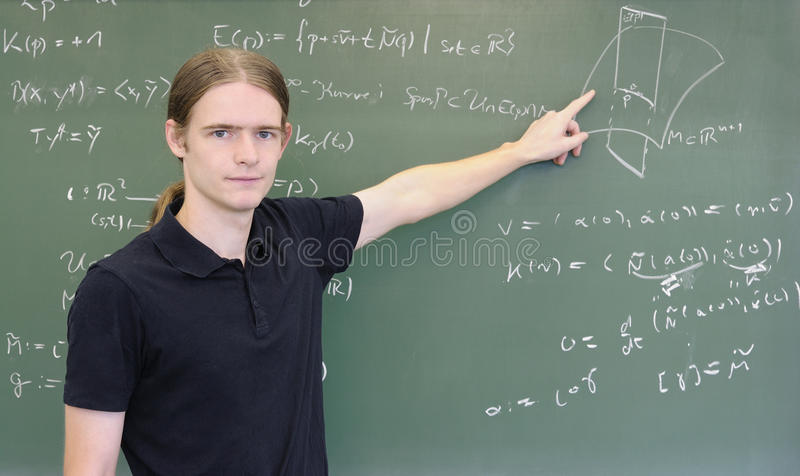 преподавательство chalkboard стоковое фото