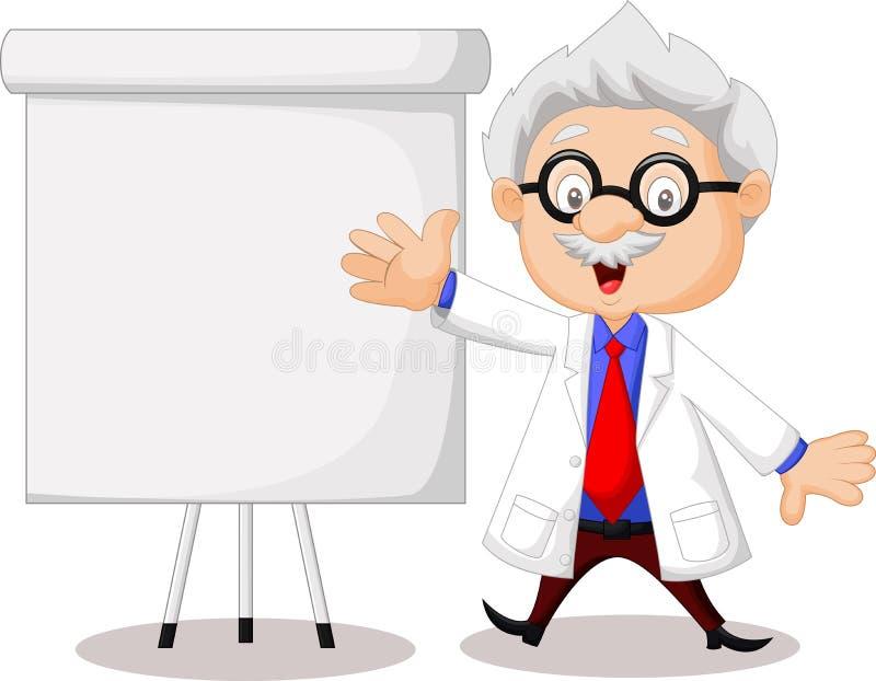 Преподавательство профессора иллюстрация вектора