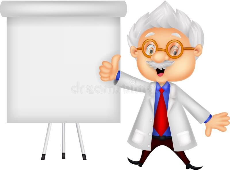 Преподавательство шаржа профессора бесплатная иллюстрация