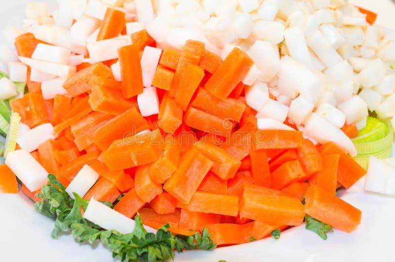 Прерванные vegetable разнообразия стоковая фотография rf