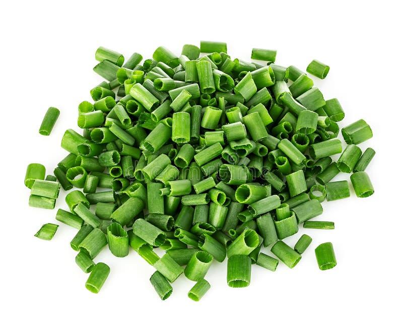 Прерванный конец-вверх зеленых луков изолированный на белизне, стоковое изображение
