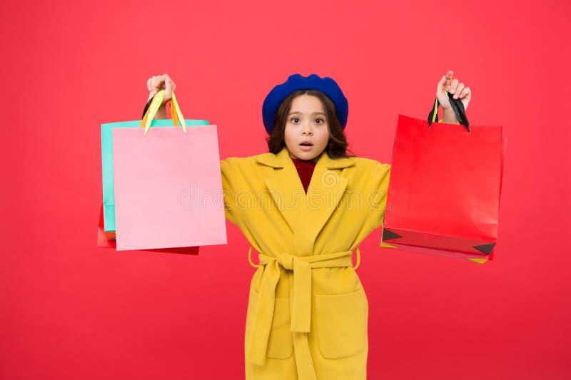 Преследованный с покупками Получите главный шкаф освежите с продажами весны в магазинах Красный цвет хозяйственных сумок владение стоковые изображения