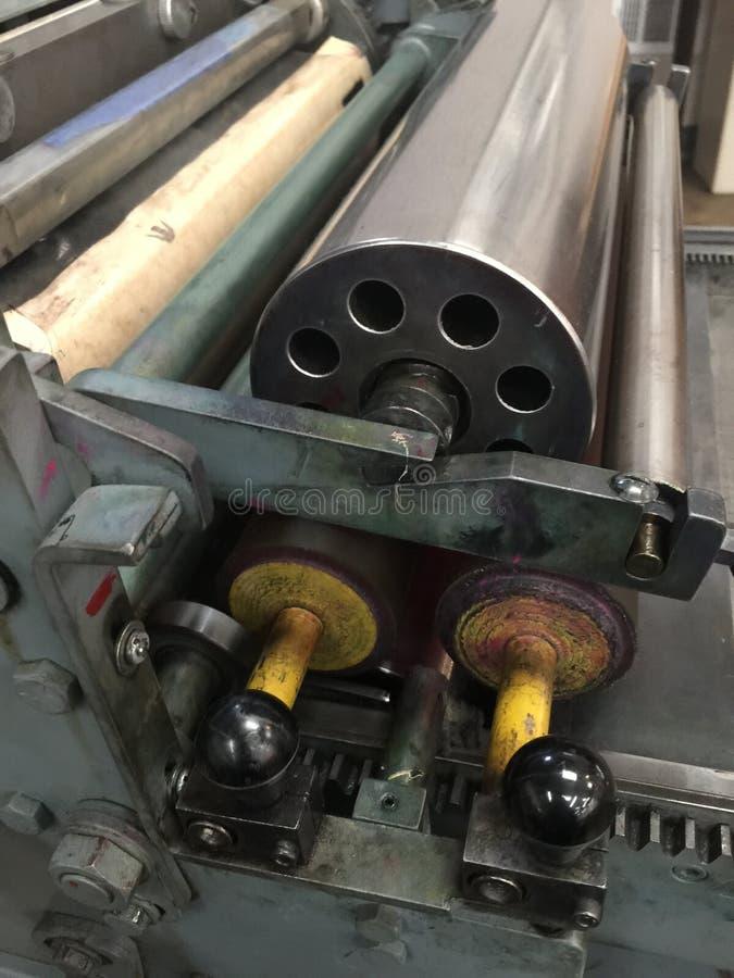 Пресса цилиндра для печатания Letterpress стоковое изображение rf