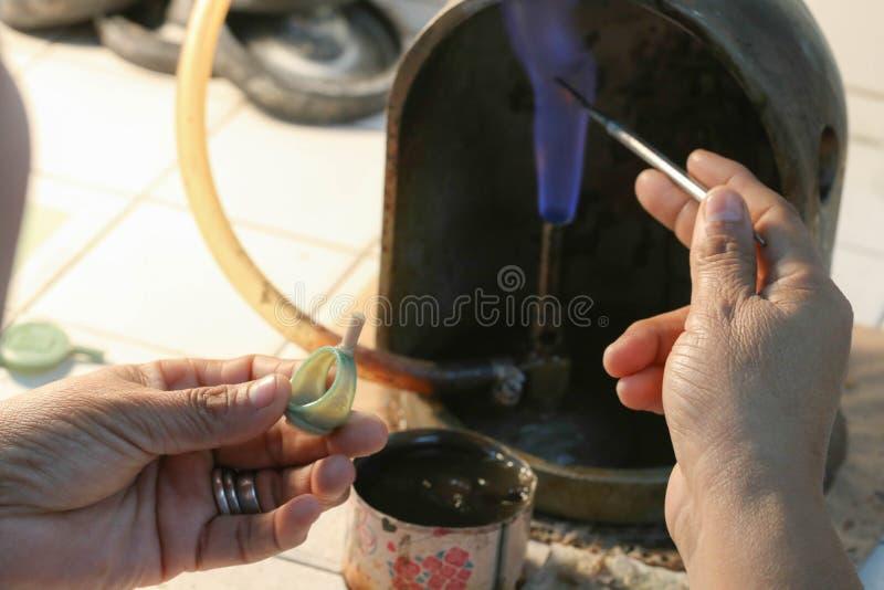 Прессформа кольца ювелирных изделий handmade стоковое изображение