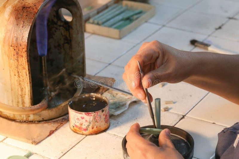 Прессформа кольца ювелирных изделий handmade стоковое изображение rf