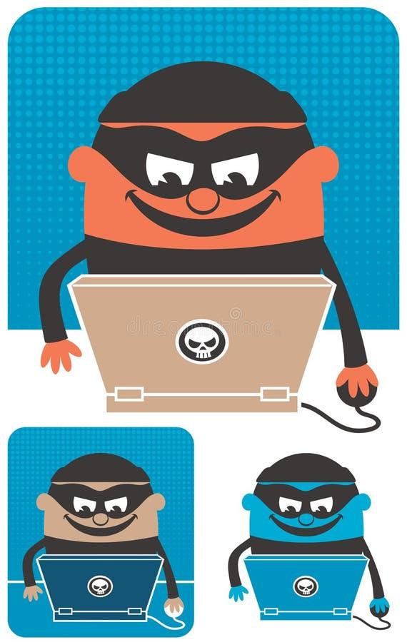 Преступление в компьютерной сфере иллюстрация вектора