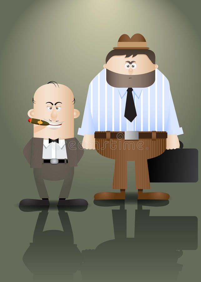 преступники иллюстрация вектора