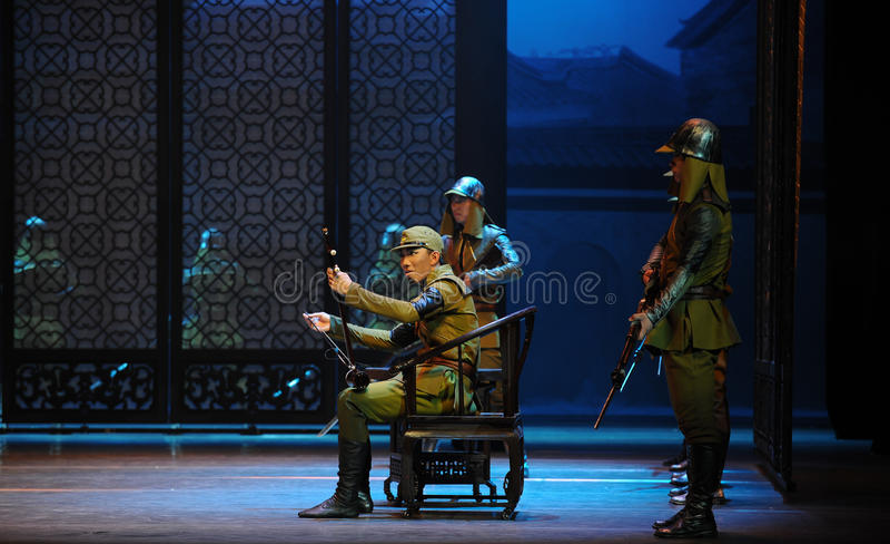 Преследованный с музыкой поступка Da Zuo-The третьего событий драмы-Shawan танца прошлого стоковые фотографии rf