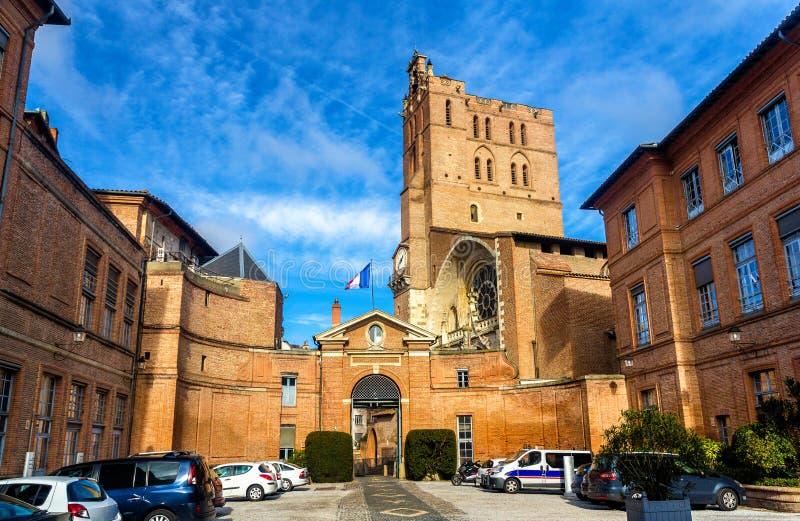 Префектура собора Midi-Пиренеи и Сент-Этьен стоковое фото rf